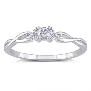 Ag Real Diamond Fashion Ring Agsr0229