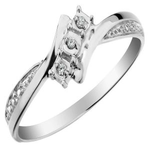 vipul,pick pocket,kaamastra,soie,the jewelbox,cloe,ag,bagforever Silvery Jewellery - Ag Real Diamond Vidya Ring  AGSR0265
