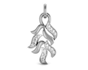 pick pocket,kaamastra,soie,the jewelbox,cloe,ag,bagforever Silvery Jewellery - Ag Real Diamond Dikshita Pendant  AGSP0114W