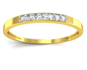 Ag Real Diamond Pooja Ring Agsr0092y