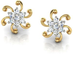 Avsar Real Gold And Cubic Zirconia Stone Nisha Earring( Code - Ave001ybn )