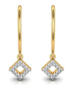 avsar Earrings (Imititation) - Avsar Real Gold and Diamond Rohini Earrings  AVE004