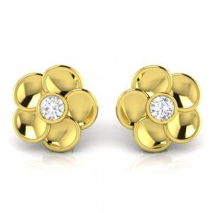 Gold Earrings - Avsar Real Gold Janavi Earring AVE006YE