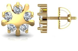Avsar Real Gold And Cubic Zirconia Stone Kajal Earring( Code - Ave006ybn )