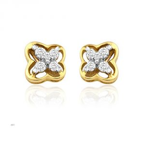 Avsar Real Gold And Diamond Mayuri Earring (code - Ave007n)