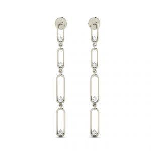 Gold Earrings - Avsar Real Gold Swapna Earring AVE014YE