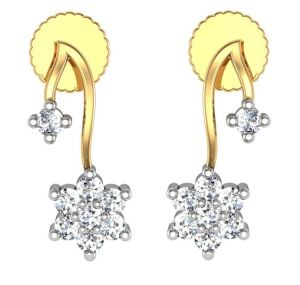 Jagdamba,Avsar,Lime,Kiara,Hoop,Estoss,Bagforever,Asmi Women's Clothing - Avsar Real Gold and Diamond Sachi  Earrings  AVE154