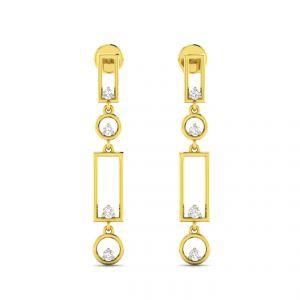 Gold Earrings - Avsar Real Gold Sachi Earring AVE015YE