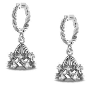 Avsar Real Gold And Cubic Zirconia Stone Archana Earring( Code - Ave0161wbn )