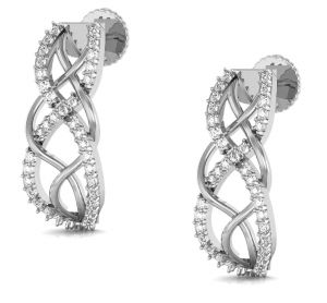 Avsar Real Gold And Diamond Anjali Earring ( Code - Ave0166wn )