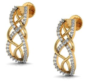 Avsar,Soie,Bikaw,Ag,Hoop Women's Clothing - Avsar Real Gold and Diamond jammu Earrings  AVE166