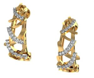 Avsar Real Gold And Swarovski Stone Payal Earring Ave0169yb