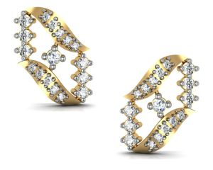 avsar,ag,triveni,flora,gili Earrings (Imititation) - Avsar Real Gold and Diamond Gujrat Earrings  AVE181