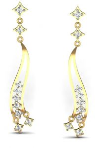 Avsar Women's Clothing - Avsar Real Gold and Diamond Vaishali Earrings  AVE183