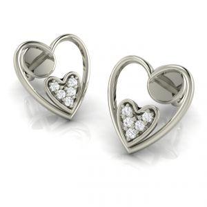 Gold Earrings - Avsar Real Gold Sonal Earring AVE018WE