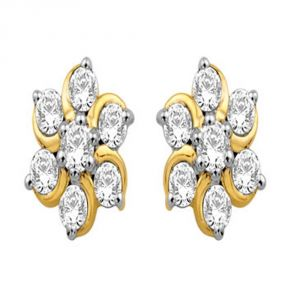 Avsar Real Gold And Diamond Archana Earring (code - Ave019n)