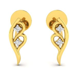 Gold Jewellery - Avsar Real Gold and Diamond Pranjal Earring( Code - AVE202YA )