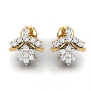 Avsar Real Gold And Diamond Earring( Code - Ave292a )