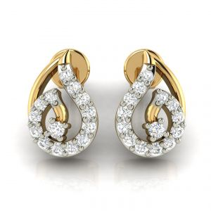 Avsar Real Gold And Diamond Earring( Code - Ave293a )