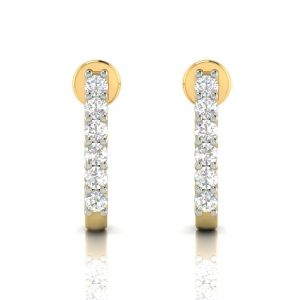 Avsar Real Gold And Diamond Earring( Code - Ave298a )