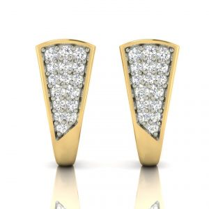 Diamond Jewellery - Avsar Real Gold and Diamond Earring( Code - AVE301A )