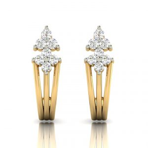 Avsar Real Gold And Diamond Earring( Code - Ave304a )