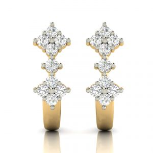 Avsar Real Gold And Diamond Earring( Code - Ave305a )