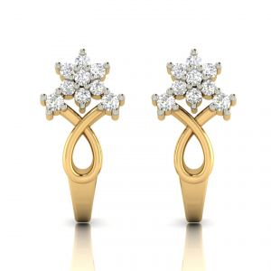 Avsar Real Gold And Diamond Earring( Code - Ave307a )