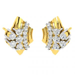 Avsar,Unimod,Soie,Shonaya,Jpearls,Pick Pocket,N gal,N gal,N gal Women's Clothing - Avsar Real Gold and Diamond Pranjal Earring (Code - AVE354A)