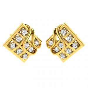 Avsar,Lime,Soie,Jpearls,Pick Pocket,N gal Women's Clothing - Avsar Real Gold and Diamond Anjali Earring (Code - AVE359A)