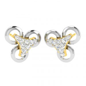 Avsar Real Gold And Diamond Trisha Earring (code - Ave364a)