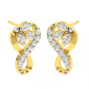 Avsar Real Gold And Diamond Tanavi Earring (code - Ave365a)