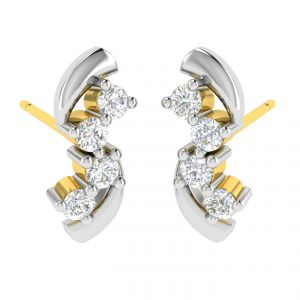 Avsar Real Gold And Diamond Pradnya Earring (code - Ave366a)