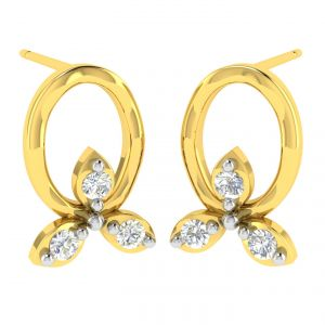 Avsar Real Gold And Diamond Samiksha Earring (code - Ave367a)
