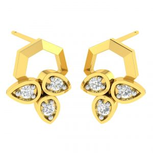 Avsar Real Gold And Diamond Namrta Earring (code - Ave369a)