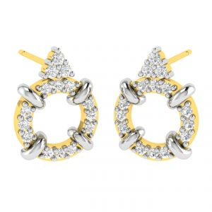Avsar Real Gold And Diamond Seema Earring (code - Ave372a)