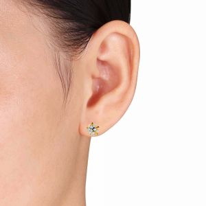 Avsar,Lime,Soie,Jpearls,Pick Pocket,N gal Women's Clothing - Avsar Real Gold and Diamond Aditi Earring (Code - AVE373A)