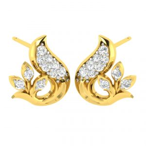Avsar,Unimod,Lime,Soie,Jpearls,Pick Pocket,N gal,N gal,N gal Women's Clothing - Avsar Real Gold and Diamond Sachi Earring (Code - AVE382A)