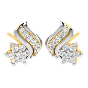 Precious Jewellery - Avsar 18 (750) Yellow Gold and Diamond Mamta Earring (Code - AVE447A)