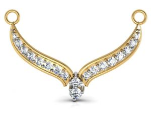 Avsar Real Gold And Diamond Assam Mangalsuta Avm005