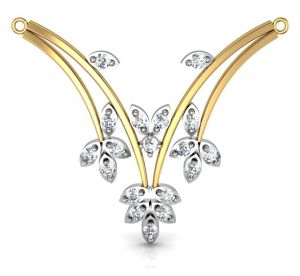 Precious Jewellery - Avsar Real Gold and Cubic Zirconia Stone Mangalsutra( Code - AVM007YBN )