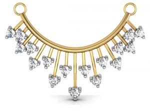 Kiara,Sukkhi,Jharjhar,Soie,Avsar Women's Clothing - Avsar Real Gold and Diamond Panaji Mangalsuta  AVM013