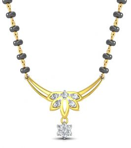 Kiara,La Intimo,Shonaya,Jpearls,Platinum,Avsar,Port,Diya Women's Clothing - Avsar Real Gold and Diamond Kochi Mangalsuta  AVM080