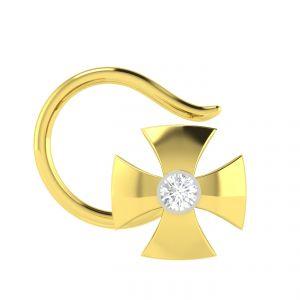 Nose pins & nose rings - Avsar Real Gold Archana Nosepin AVN002YN