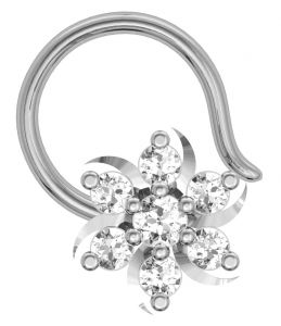 Avsar Real Gold And Diamond Bopal Nose Ring ( Code - Avn010wn )