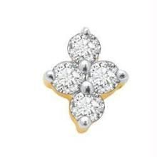 Avsar Real Gold And Diamond 4 Stone Traditinol Nosering Avno004