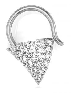Avsar Real Gold And Diamond Vidya Nose Ring ( Code - Avn016wn )