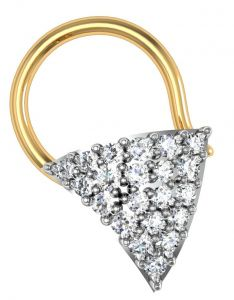 Avsar Real Gold And Swarovski Stone Madhavi Nose Ring Avn016yb