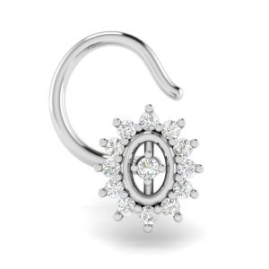 Avsar Real White Gold And Diamond Monika Nosering( Code - Avno036wa )