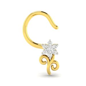 Precious Jewellery - Avsar Real Gold and Diamond Pranjal Nosering( Code - AVNO049YA )